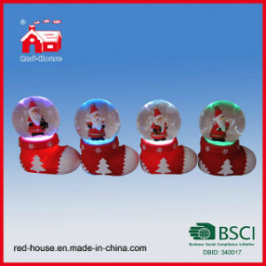 Colorful LED Christmas Water Globe Santa Claus Christmas Decoration