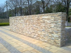 Natural Yellow Culture Slate Tiles for Wall Cladding pictures & photos
