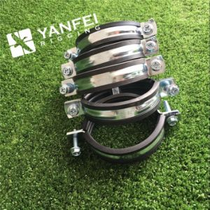 Zinc Plated Pipe Clamp with EPDM Rubber pictures & photos