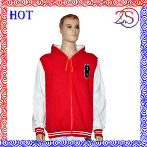 Custom Made Sportswear Men′s Fleece Hoody Pocket Jacket pictures & photos