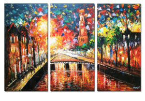 100% Handmade Palette Knife Painting on Canvas for Home Decor (LA3-131) pictures & photos