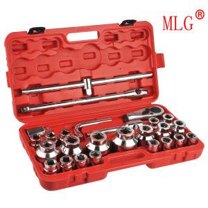 26PCS Heavy Duty Socket Wrench Set of Mirron Surface (MLG26)