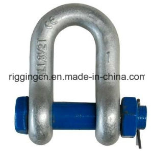 High Strength Forged Galvanized Alloy Steel Bolt Safety Marine Hardware Screw Pin Dee Shackle G-2150 pictures & photos