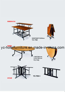 Melamine Sectional Buffet Folding Table (YC-T58) pictures & photos