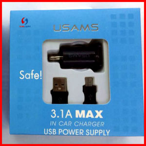 Mobile Usams USB Car Charger for iPhone5 pictures & photos