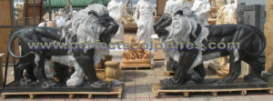 Stone Granite Marble Lion Sculpture for Garden Animal Statue (SY-D229) pictures & photos