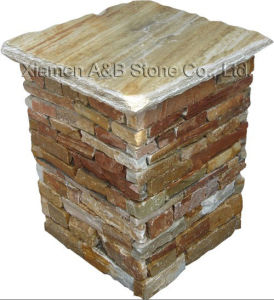 Slate Pillar / Culture Stone (ABW014Z) pictures & photos