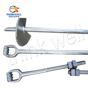 Hot DIP Galvanized Forging Steel Ground Screw Anchor pictures & photos