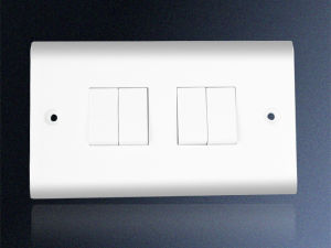 4 Gang 1 Way Electrical Wall Switch