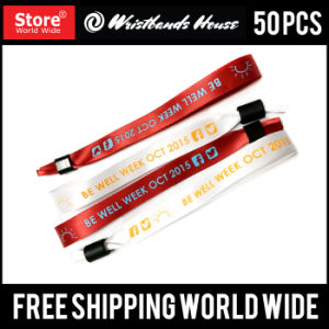 Custom Screen Printed Fabric Wristbands pictures & photos