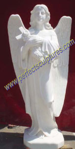 Stone Marble Angel Statue for Cemetery Tombstone Monument Headstone (SY-X1087) pictures & photos