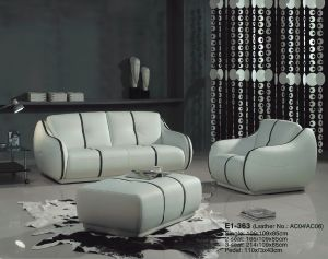 Leather Sofa (E1-363) pictures & photos