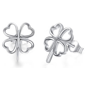 925 Sterling Silver Four Leaf Clover Stud Earrings Wedding Jewelry pictures & photos