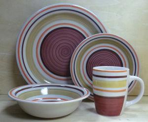 16PCS Hand Painted Stoneware Dinner Set (WSY1023S)