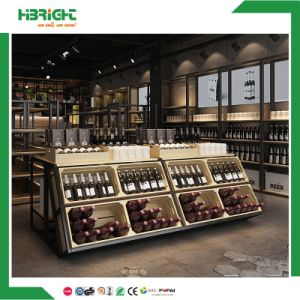 Wooden Store Double Sided Wine Racks pictures & photos