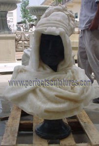 Head Bust Sculpture with Stone Marble Granite Limestone Sandstone (SY-S259) pictures & photos