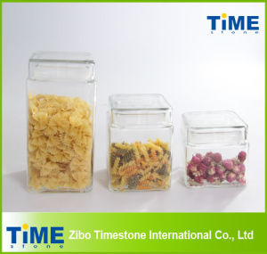 Square Clear Glass Jar for Food Storage (TMZX122101) pictures & photos