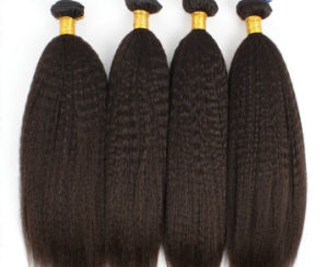 Kinky Straight Hair Weave Virgin Brazilian Hair Weave pictures & photos