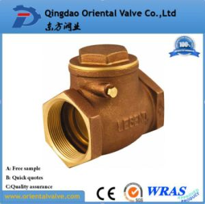 "2-1/2"" Inch Durable Professional Low Price Brass Spring Check Valve Brass Non pictures & photos"