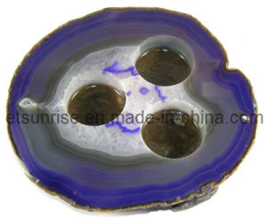 Semi Precious Stone Decoration, Candle Holder Shape, Stone Ornament <Esb01619> pictures & photos