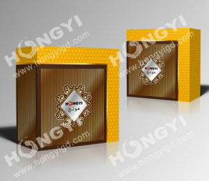 Brown+Gloden Cardboard Folding Perfume Box for Gift Packaging (HYP008) pictures & photos