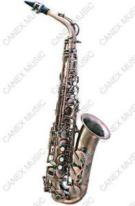 Alto Saxophone/ Archaize Gold Alto Saxophone (SAA201) pictures & photos