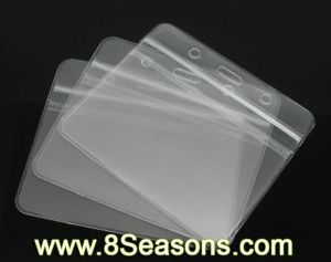 Transparent Waterproof ID Badges Holders Pouches 10x8cm (B06297)