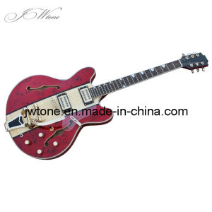 Semi Hollow Body Bigsby Bridge Quality Custom Electric Guitar pictures & photos