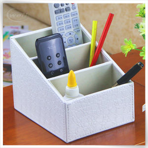 Fashion Rotating Printing PU Leather Remote Control Box Holder