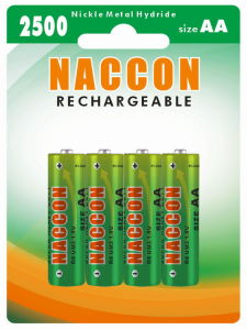 Naccon Ni-Mh 2500 AA Rechargeable Battery (Ni-MH AA 250BP4) pictures & photos