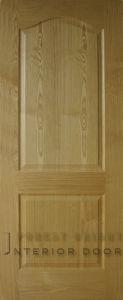 Ash Veneer 2-Panel Curved Molded Door (MD-1117)