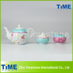 Porcelain Wholesale 3PCS Tea Set pictures & photos
