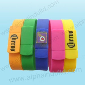 Wrist Band Logo USB Flash Drive pictures & photos