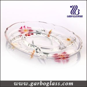 Lily Glass Plate (GB1728LB/PDS) pictures & photos