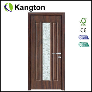 Styled Glass Interior MDF PVC Wood Door (PVC wood door) pictures & photos