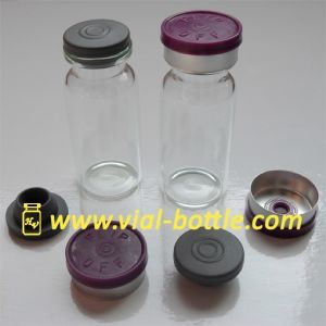 10ml Medical Bottle with 20mm Purple Flip off Caps and Rubber Stopper pictures & photos