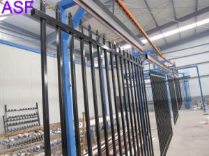 Black Colour Powder Coated Security Fencing Panel pictures & photos