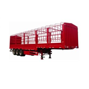 ISO CCC 32tons Tri-Axle Cargo Stake Truck Trailer pictures & photos