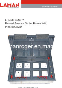 LFDSR SOBP7 Raised Service Outlet Boxes With Plastic Cover
