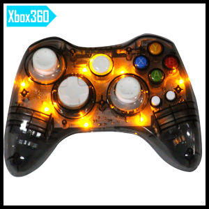 Wireless Transparent Gamepad Gamepad Game Controller Joystick for xBox360 with LED Light