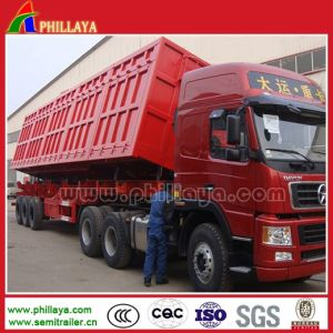 40-50ton Dump Truck Trailer Side Tipper with Hydraulic Cylinders pictures & photos