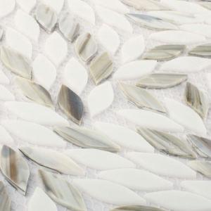 New Design Leaf Patterns Gray Glass Mosaic Kitchen Backsplash Tile pictures & photos