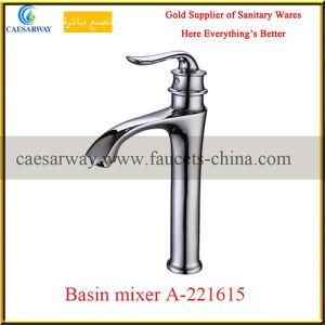 Bathroom Golden Deck Mounted Wash Basin Faucet pictures & photos