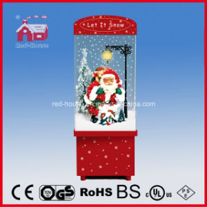 Santa Claus Snowing Christmas Decoration with LED Lights