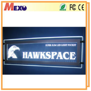 Window Display Rectangle Shape Acrylic LED Crystal Sign Board pictures & photos