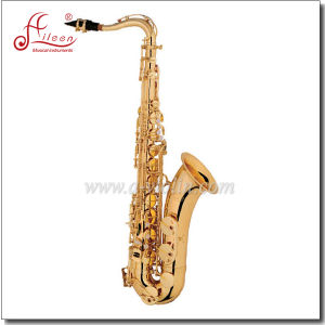 Musical Instrument Yellow Brass Body Eb Key Wholesale Chinese Saxophone pictures & photos