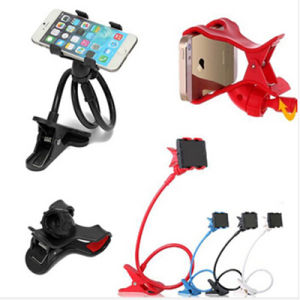 Universal Lazy Mobile Phone Clip Holder GPS Desk Bed Stand Bracket 360 Rotating Mount for iPhone Samsung Andriod