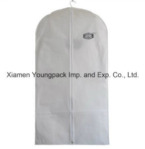 Custom Printed White Non-Woven Cloth Suit Garment Cover pictures & photos