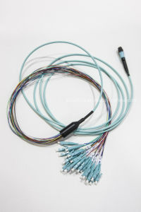 MPO-LC Mini Round 3.0mm Optical Fiber Patchcord pictures & photos