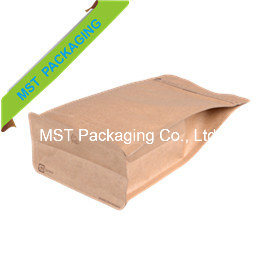 Kraft Paper Box Pouch with Zipper; Flat Bottom Bag pictures & photos
